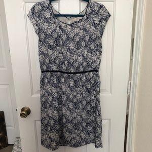 LOFT Floral Scribble Dress Sz 12